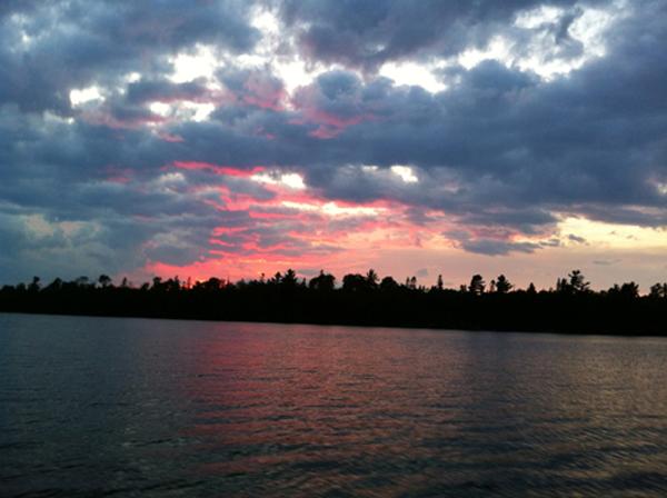 sunset-lake
